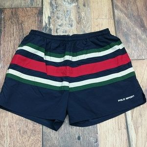 Vintage 90' Polo Sport Men's Swim Trunks Shorts
